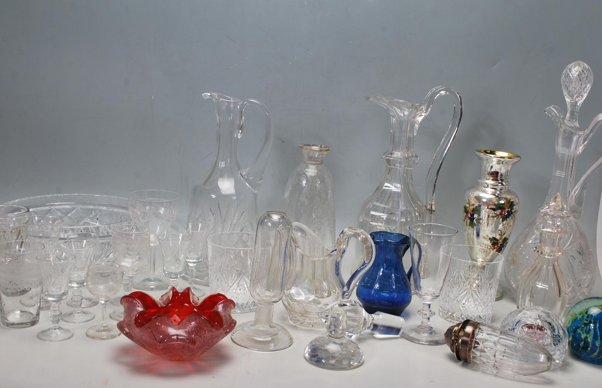 LARGE COLELCTION OF 10TH CENTURY AND LATER CRYSTAL GLASS