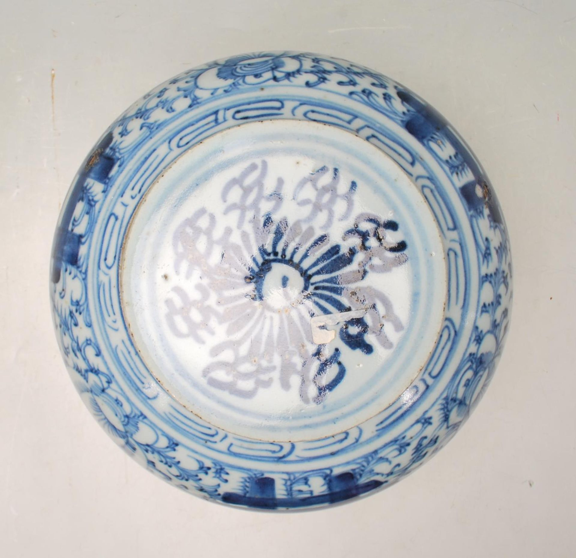 LATE 19TH CENTURY KANGXI CHINESE BLUE AND WHITE VASE - Image 2 of 9
