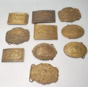 COLLECTION OF AMERICAN BRASS BELT BUCKLES