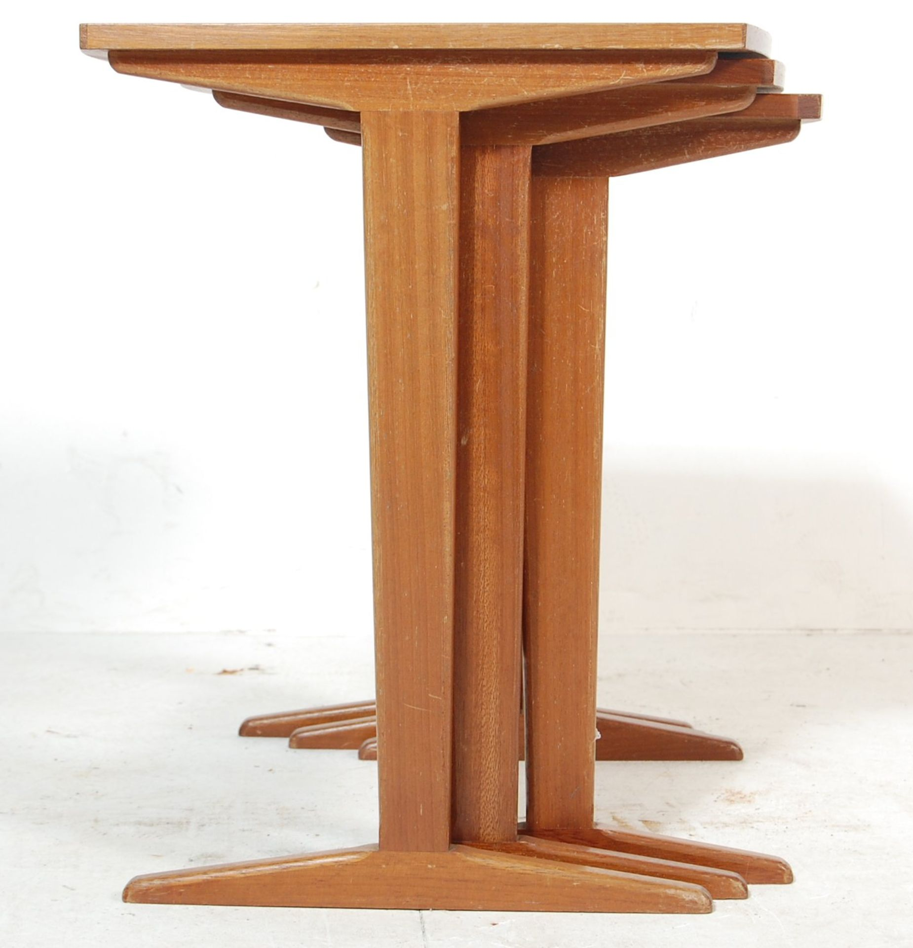 G-PLAN - RETRO 1970'S TEAK WOOD NEST OF TABLES - Image 4 of 5