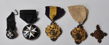 FIVE 20TH CENTURY MEDALS AND BADGES