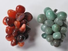 GREEN HARD STONE GRAPE ORNAMENTS