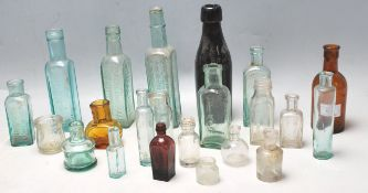 LARGE QUANTITY OF 19TH AND 20TH CENTURY GLASS BOTTLES
