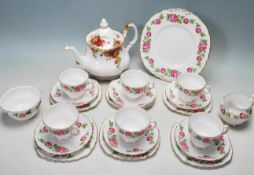 ROYAL VALE TEA SERVICE & OLD COUNTRY ROSES TEAPOT