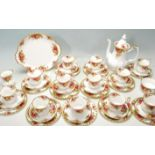 ROYAL ALBERT OLD COUNTRY ROSES COFFEE SET - TEA SERVICE