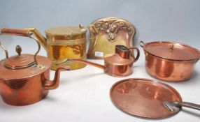 20TH CENTURY VICTORIAN STYLE COPPER AND BRASS KITCHEN WARE