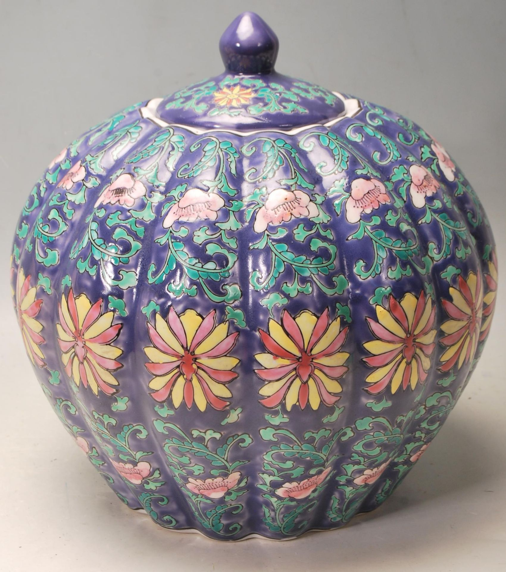 LATE 20TH CENTURY CHINESE PUMPKIN VASE - Image 3 of 5