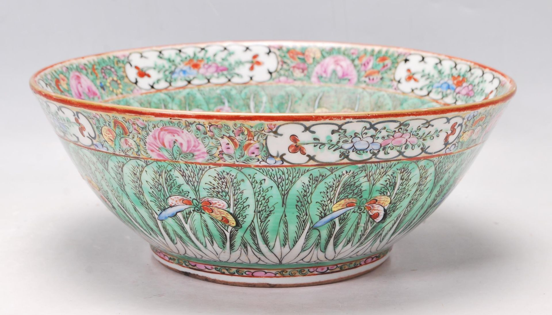 19TH CENTURY CHINESE ORIENTAL CENTRE PIECE BOWL - Image 2 of 11