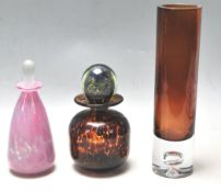 A COLLECTION MDINA STUDIO ART GLASS AND OTHERS