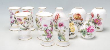 TWELVE COMPTON & WOODHOUSE SPODE MINIATURE CERAMIC VASES
