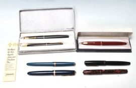 COLLECTION OF LATE 20TH CENTURY VINTAGE FOUNTAIN PENS