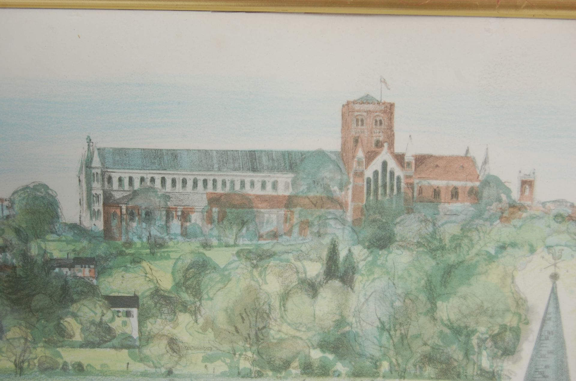 ALBANU WISEMAN LIMITED EDITION LITHOGRAPH OF THREE CHURCHES - Image 4 of 8