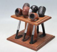 VINTAGE 20TH CENTURY TOBACCO PIPES AND RACK