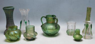 COLLECTION OF VICTORIAN 19TH CENTURY ART NOUVEAU GLASSWARE
