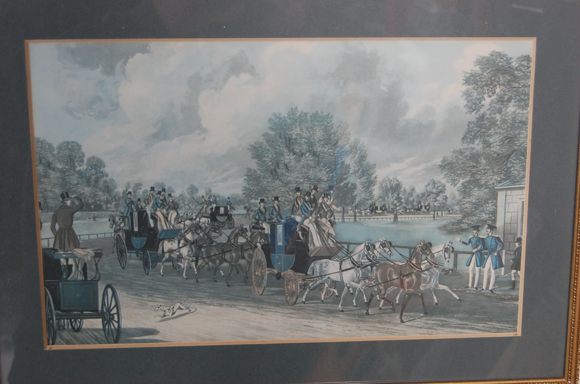 A GROUP OF SEVEN ROYAL MAIL LITHOGRAPH PRINTS DEPICTING 19TH CENTURY ROAYL MAIL COACHES - Image 6 of 13