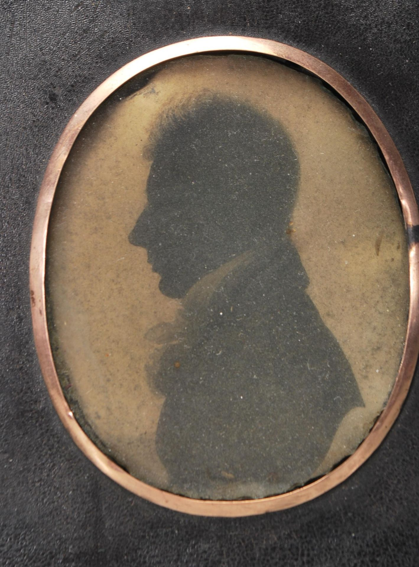 PAIR OF VICTORIAN 19TH CENTURY SIDE PORTRAITS / PORTRAIT MINIATURE - Image 3 of 4