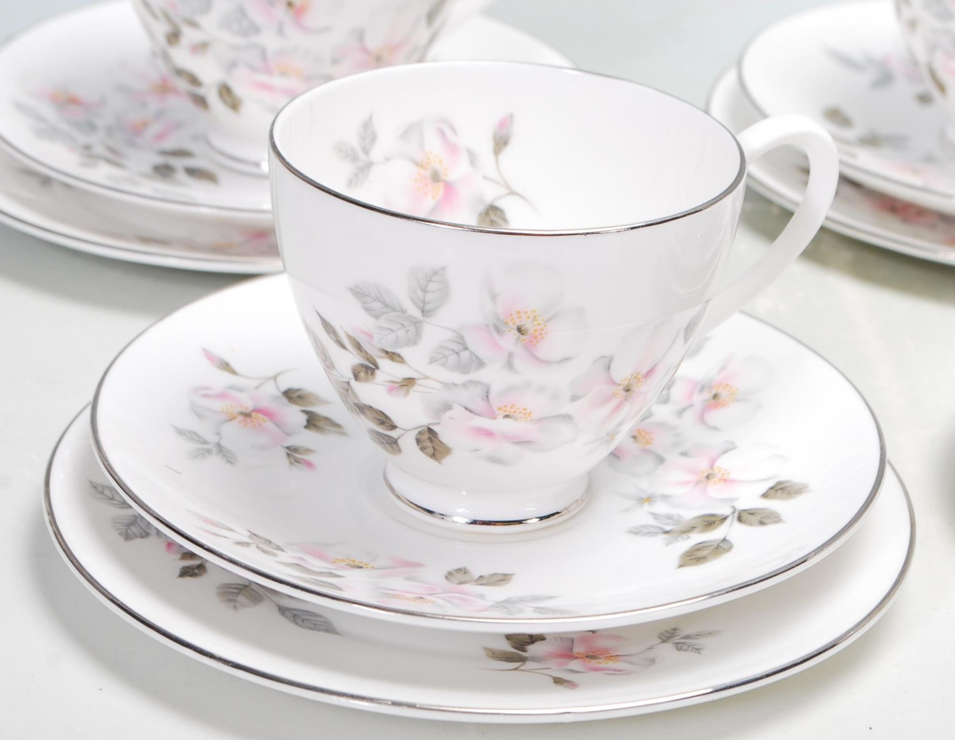 ROYAL ADDERLEY SILVER ROSE TEA SERVICE FOR SIX - Image 2 of 7