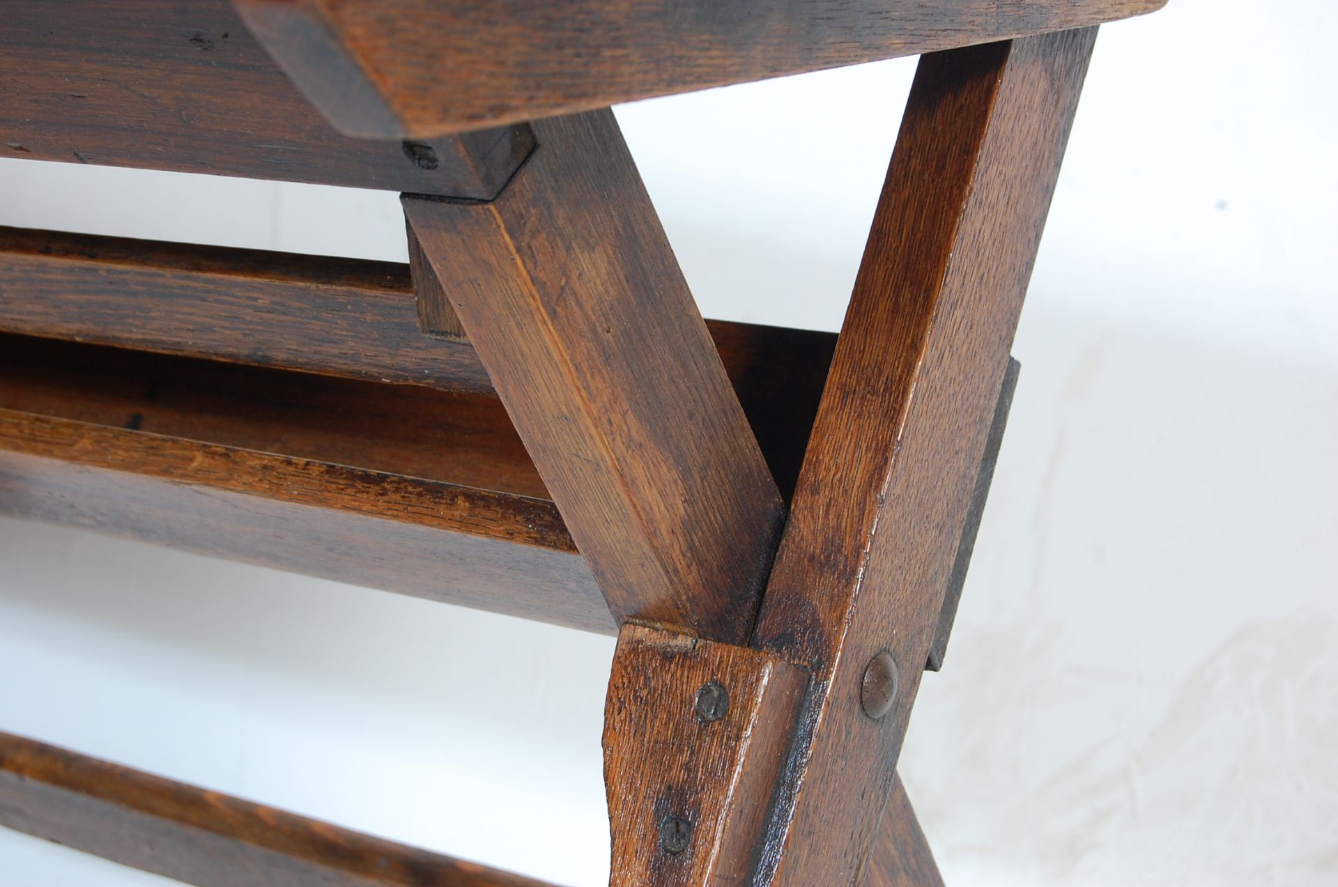 An early 20th Century vintage folding double schoo - Image 4 of 7