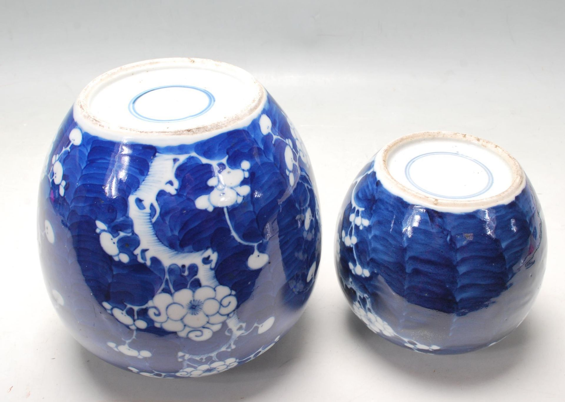 TWO ANTIQUE EARLY 20TH CENTURY CHINESE BLUE AND WHITE GINGER AND JARS - Image 6 of 8