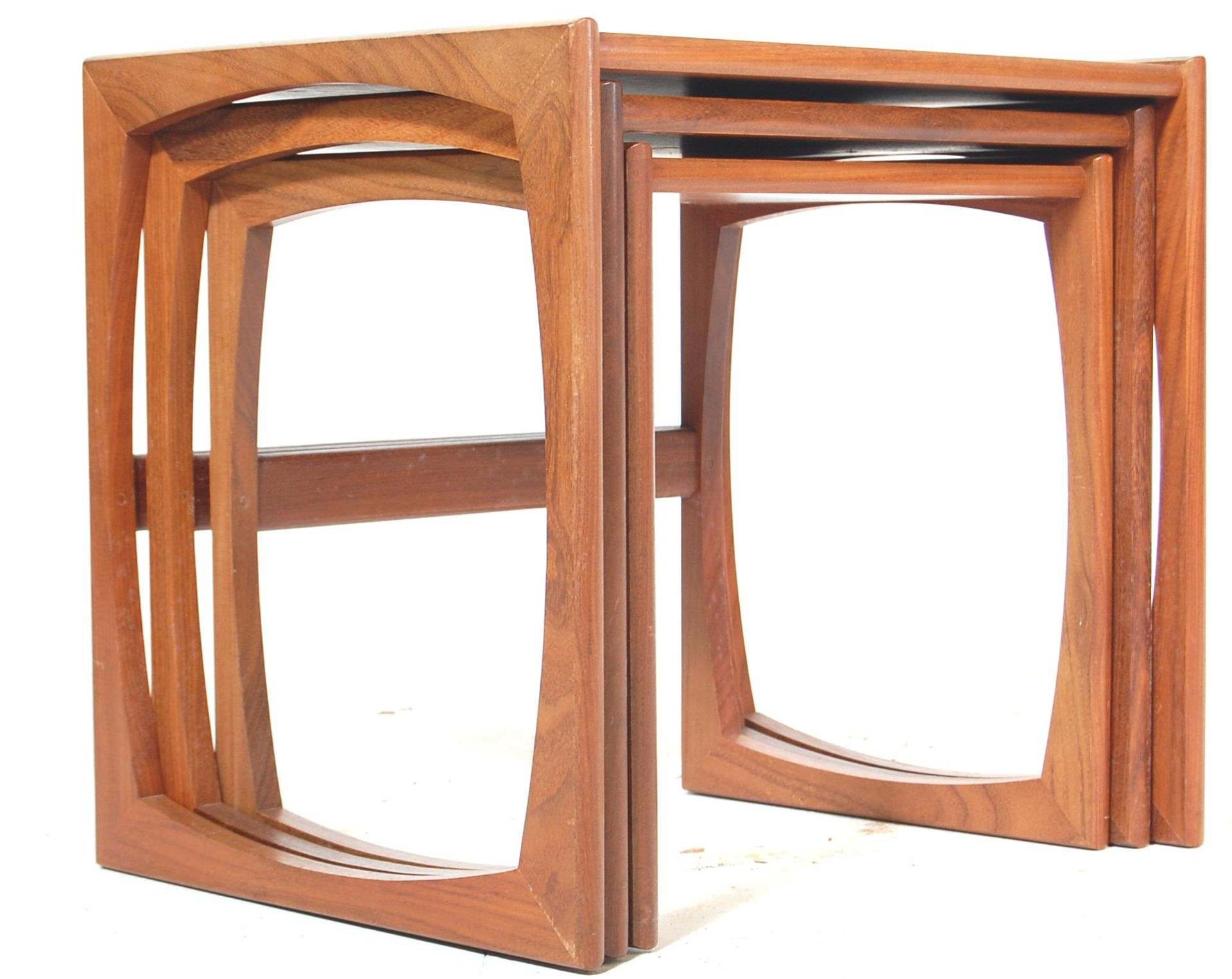A RETRO 1960'S TEAK WOOD G PLAN FRESCO NEST OF TABLES