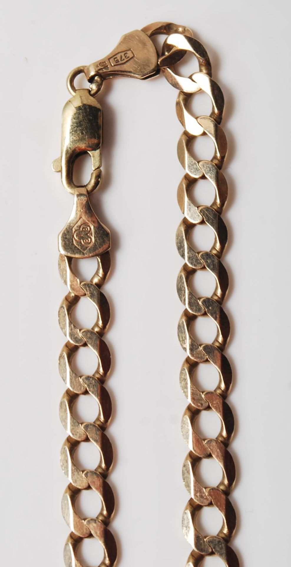 9CT GOLD FLAT LINK NECKLACE CHAIN - Image 2 of 7