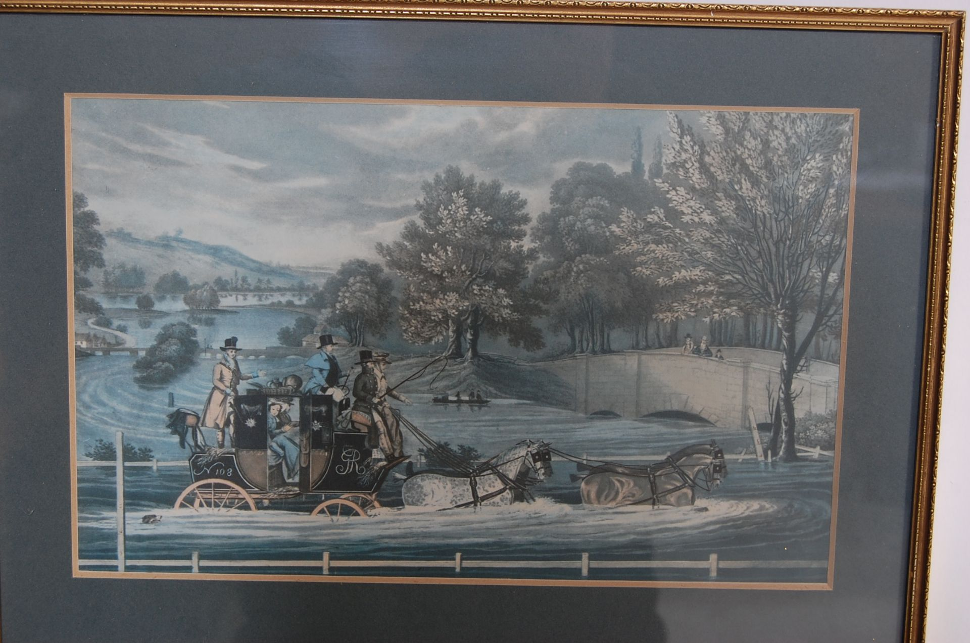 A GROUP OF SEVEN ROYAL MAIL LITHOGRAPH PRINTS DEPICTING 19TH CENTURY ROAYL MAIL COACHES - Image 2 of 13