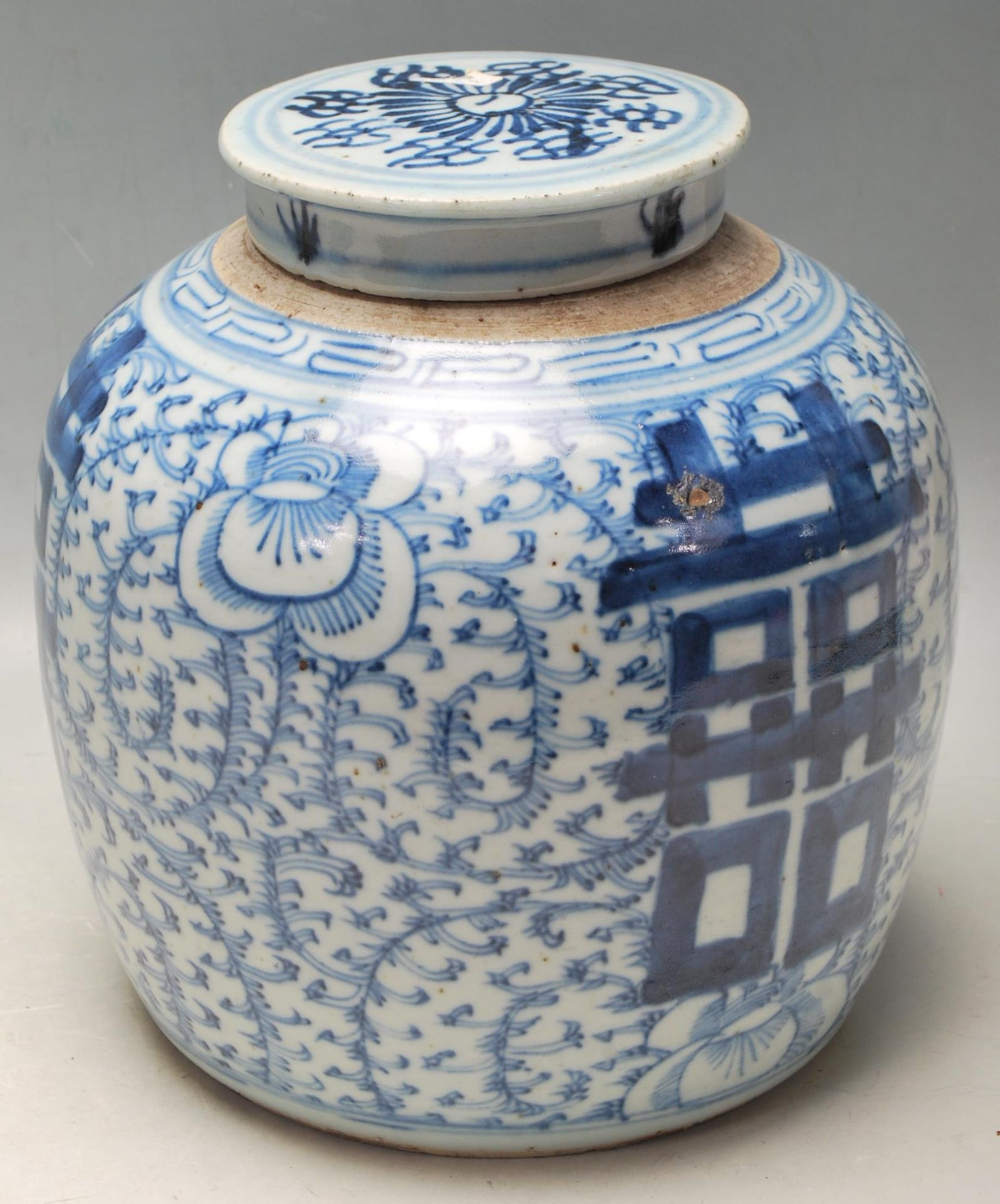LATE 19TH CENTURY KANGXI CHINESE BLUE AND WHITE VASE - Image 6 of 9