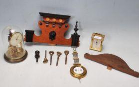 LIONEL PICK CARRIAGE CLOCK AND BENTIMA ANNIVERSARY CLOCK