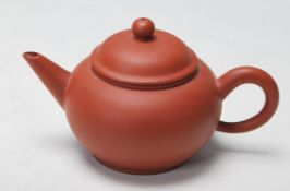 CHINESE YIXING RED CLAY SEAL MARKED TEAPOT