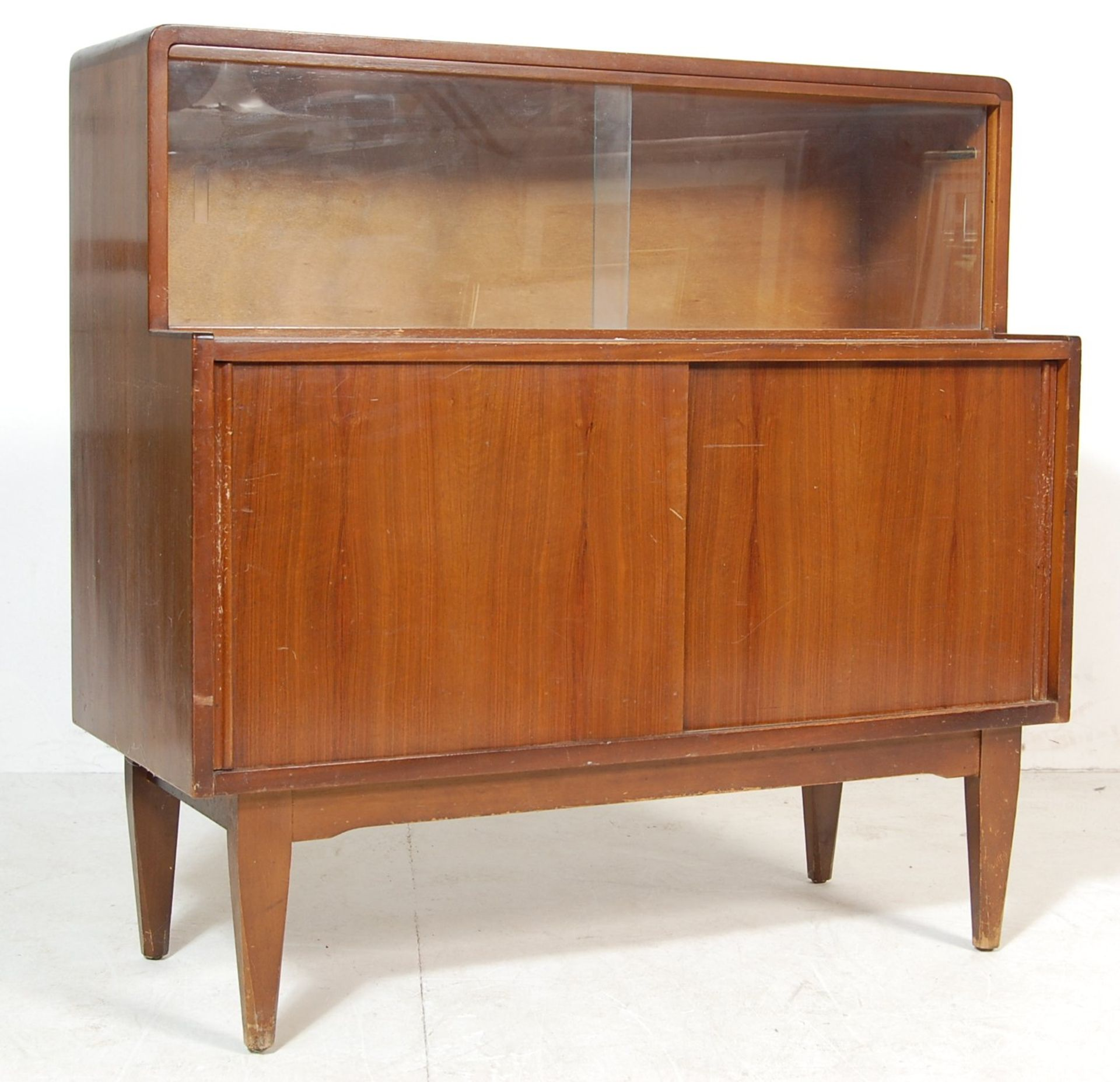 RETRO VINTAGE MID CENTURY TEAK WOOD HIGHBOARD