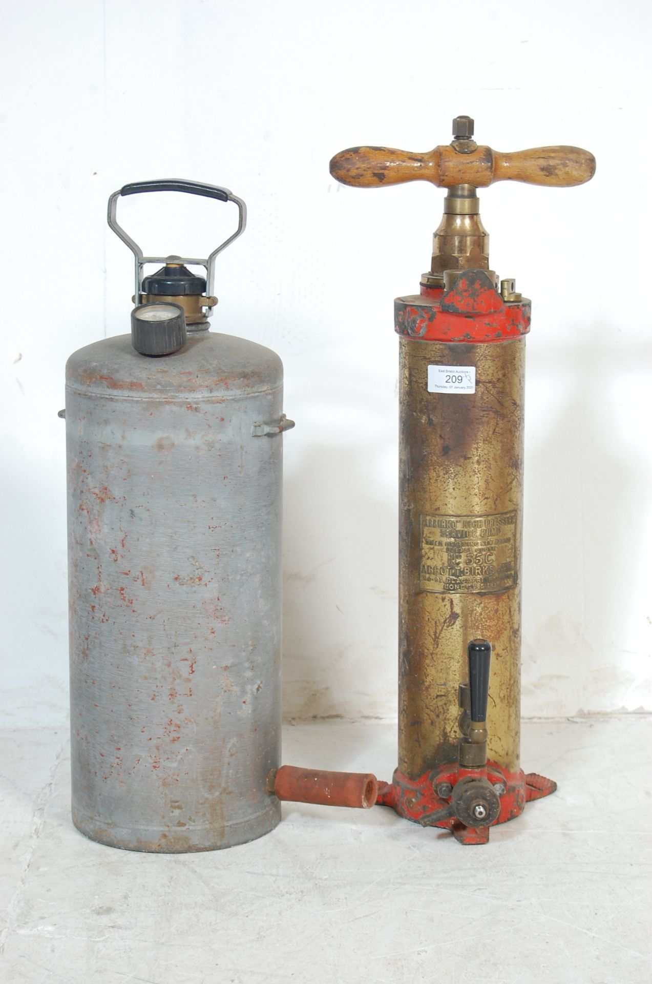ABBIRKO PRESSURE SERVICE PUMP AND ANOTHER