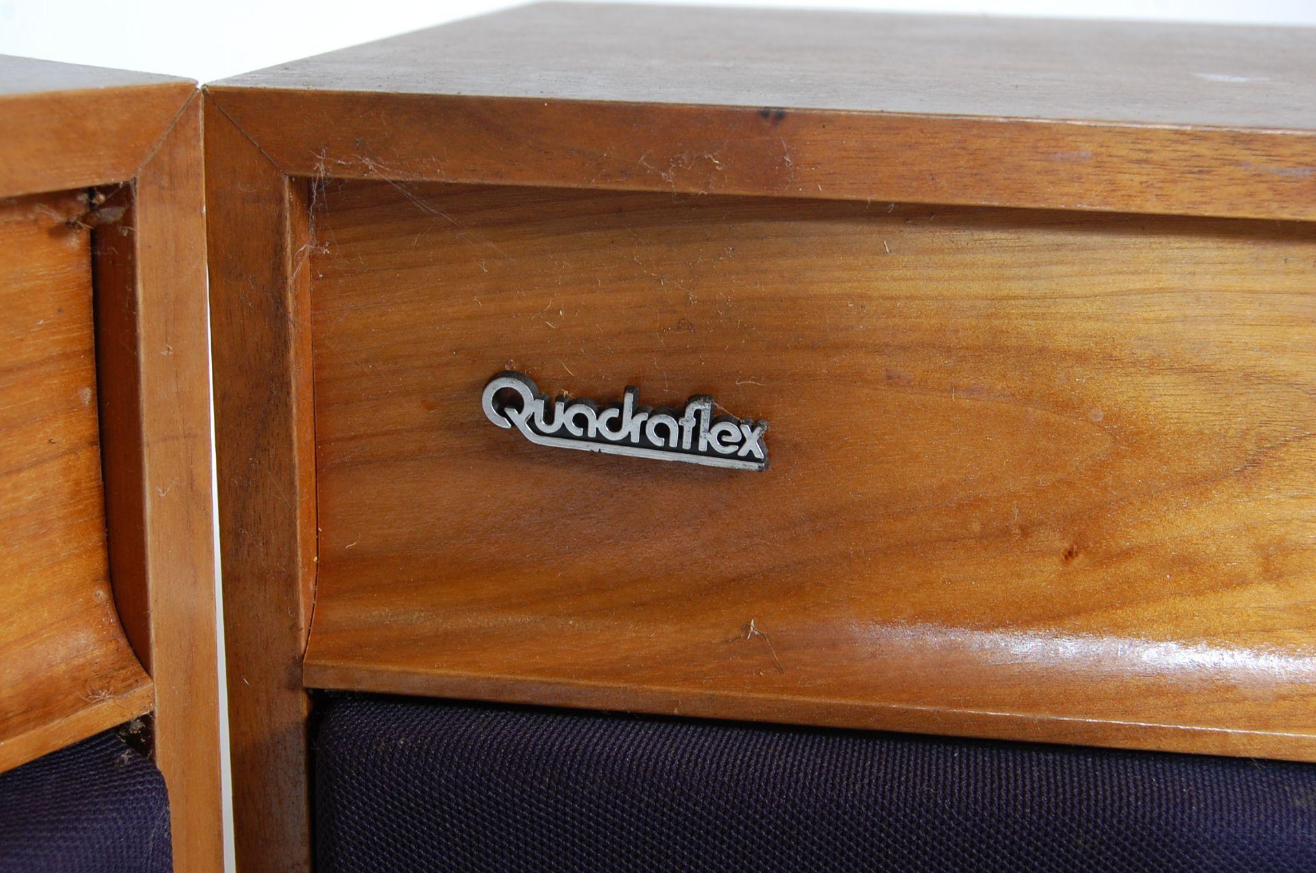 PAIR OF TEAK FLOOR STANDING QUADRAFLEX HIFI SPEAKERS - Image 3 of 5