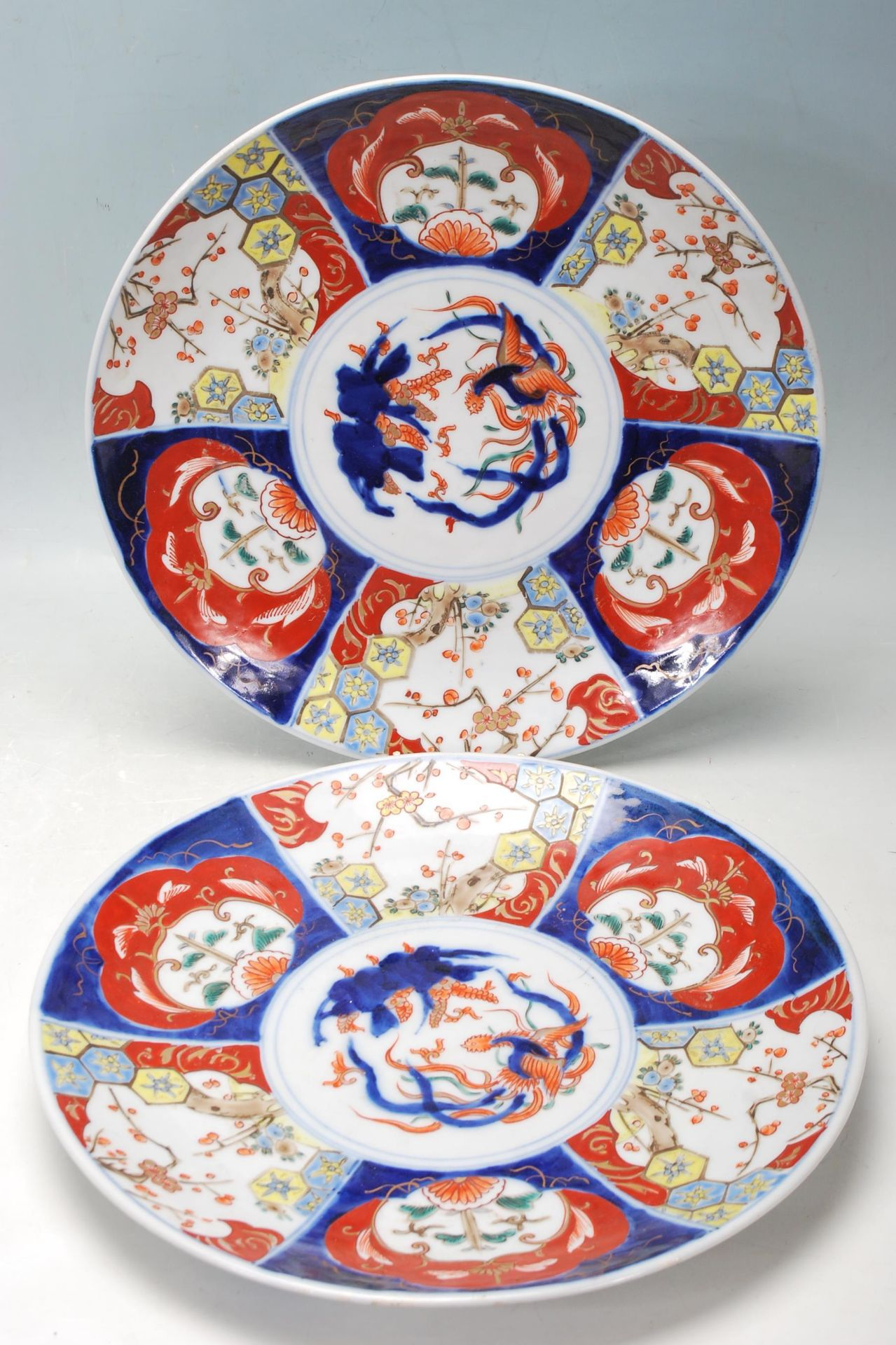 TWO 19TH CETURY 20TH CETURY CHINESE ORIENTAL CHARGERS