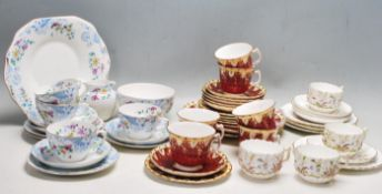 THREE ANTIQUE VICTORIAN CHINA TEA SETS