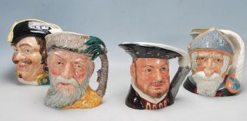FOUR ROYAL DOULTON CHARACTER JUGS / TOBY JUGS