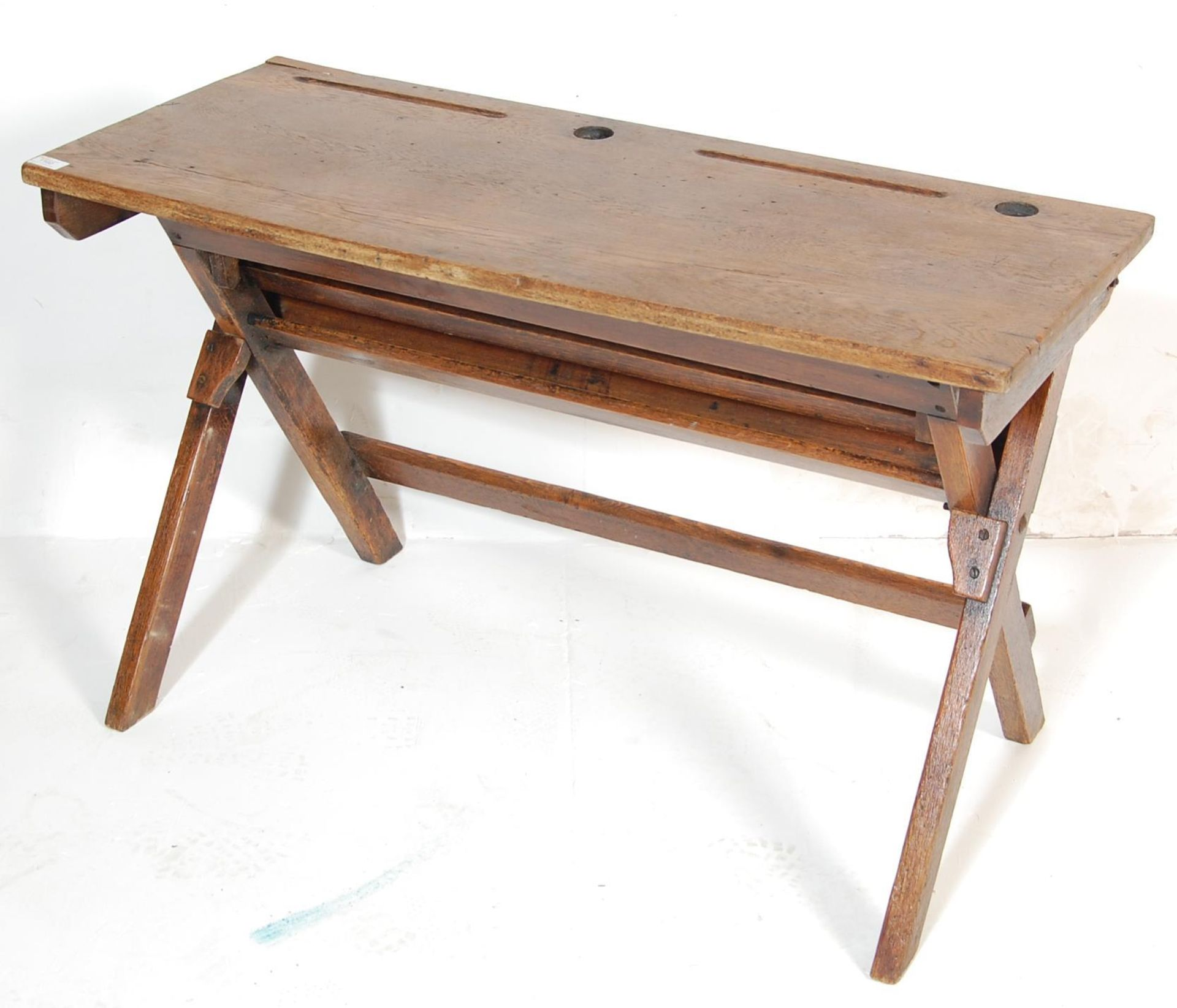 An early 20th Century vintage folding double schoo - Image 2 of 7
