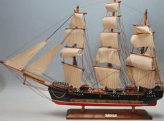 VINTAGE 20TH CENTURY SCRATCH BUILT MODEL GALLEON OF THE FRAGATA