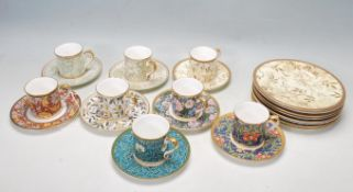 A SET OF SIX 20TH CENTURY WILLIAM MORRIS - VICTORIAN AND ALBERT TEA SERVICE