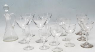 COLLECTION OF 19TH CENTURY VICTORIAN DRINKING GLASSES