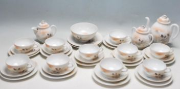LARGE VINTAGE FINE PORCELAIN JAPANESE TEA SET