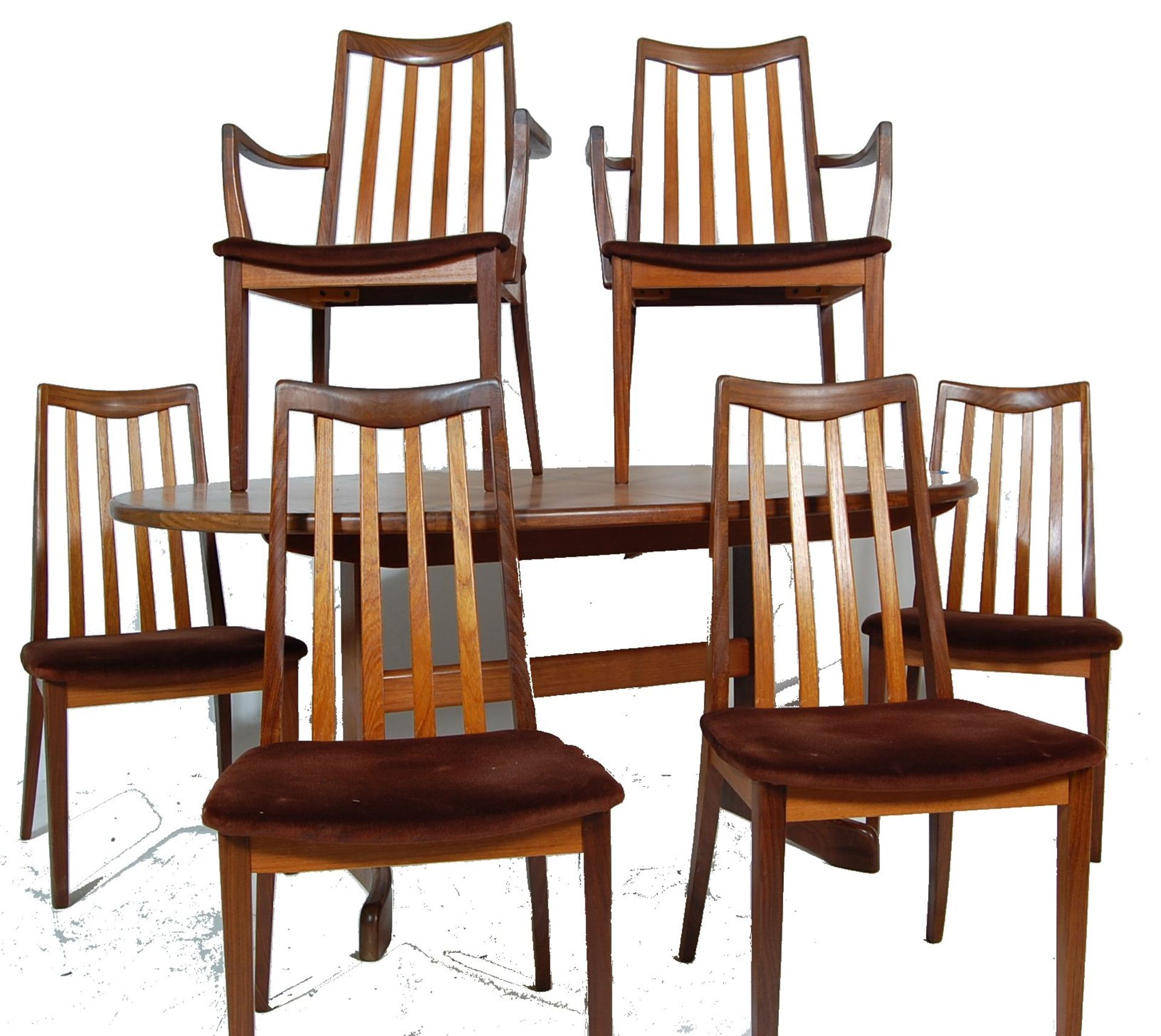 RETRO VINTAGE 1970S GPLAN DINING TABLE AND CHAIRS