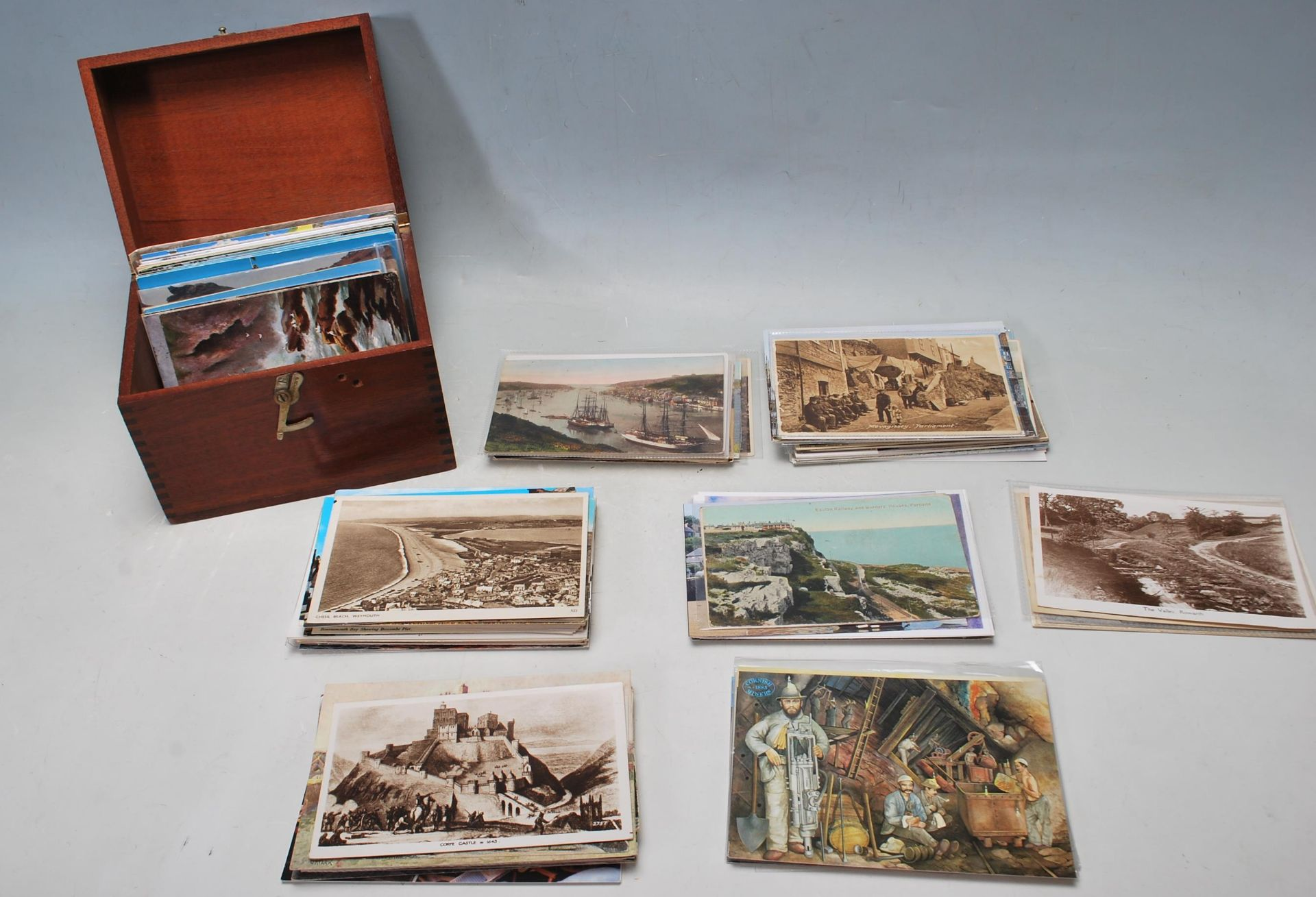 COLLECTION OF VINTAGE POSTCARDS - CORNWALL BRISTOL