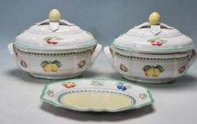 PAIR OF VILLEROY & BOCH PORCELAIN TUREENS