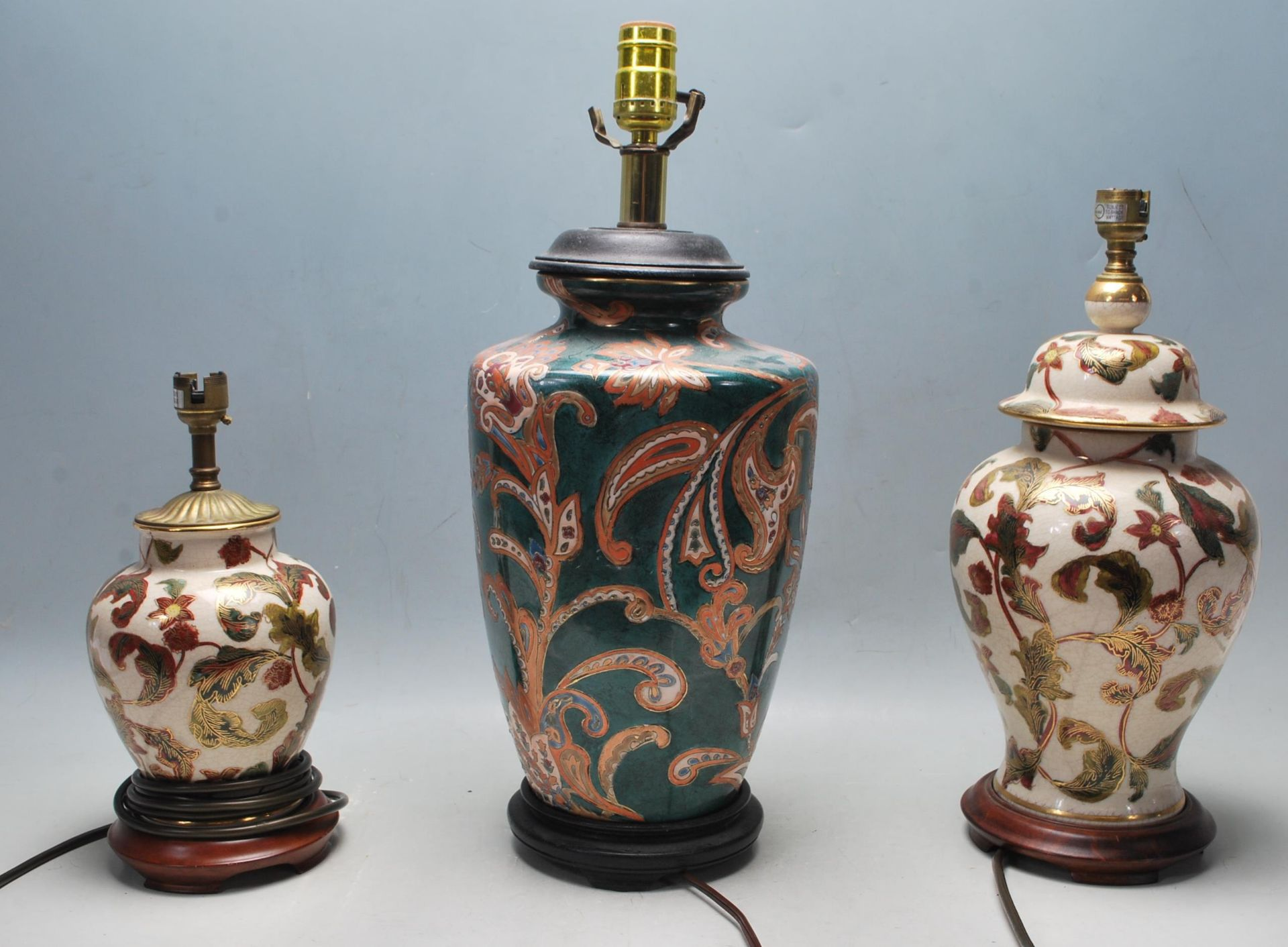 COLLECTION OF KUTANI / FAMILLE ROSE TABLE LAMPS