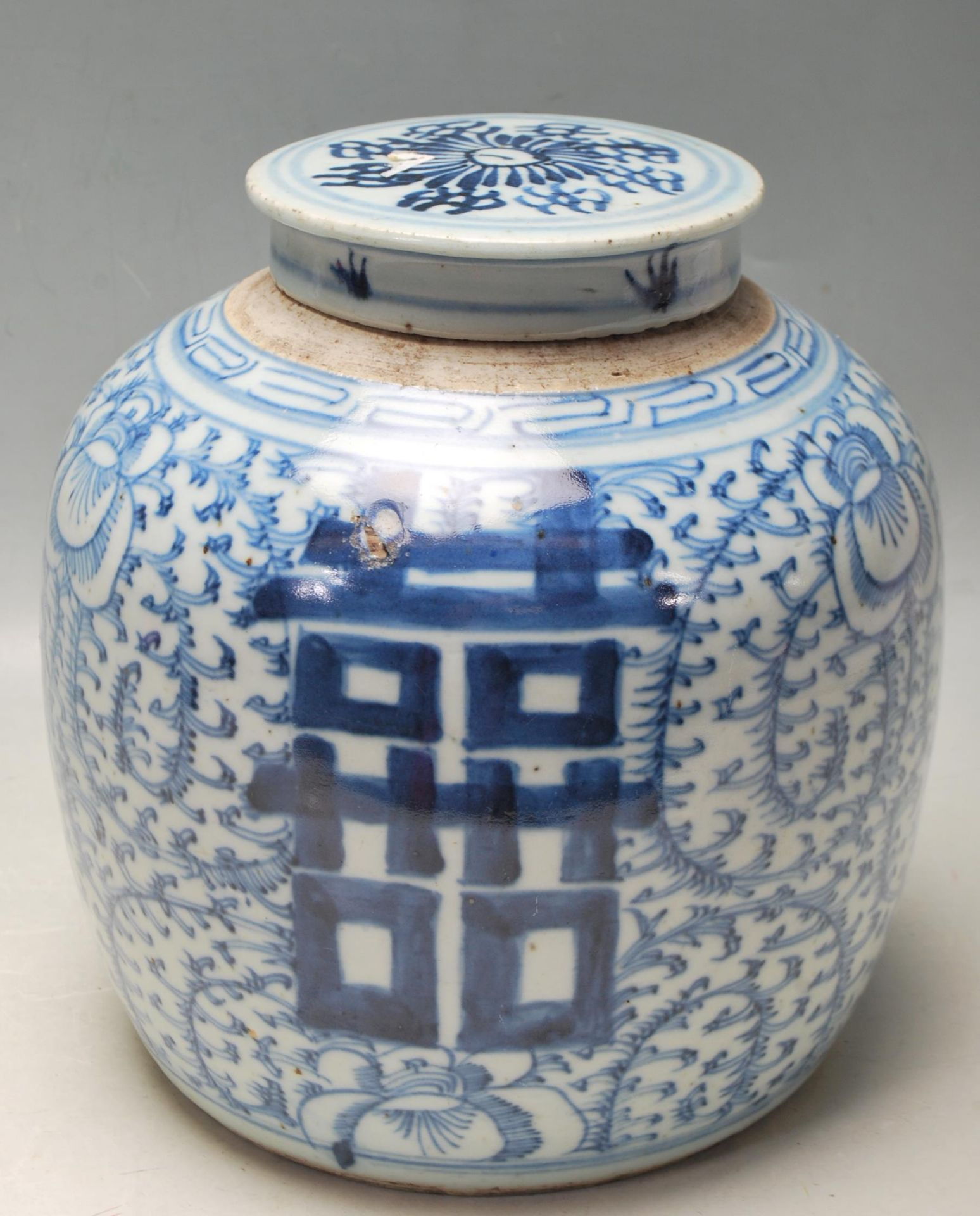 LATE 19TH CENTURY KANGXI CHINESE BLUE AND WHITE VASE - Image 5 of 9