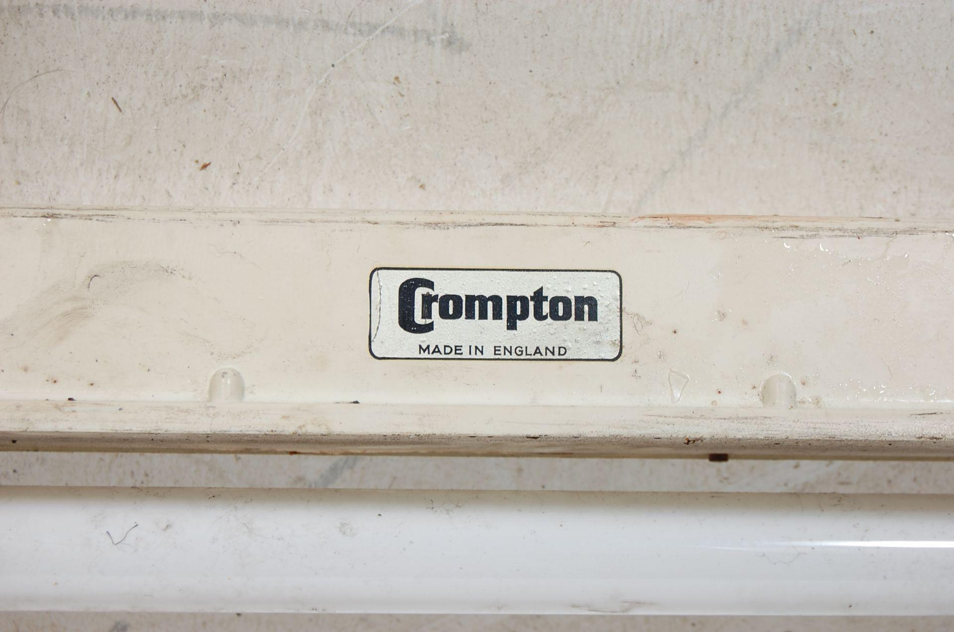 PAIR OF MID CENTURY INDUSTRIAL CROMPTON STRIP LIGHTS - Image 5 of 5