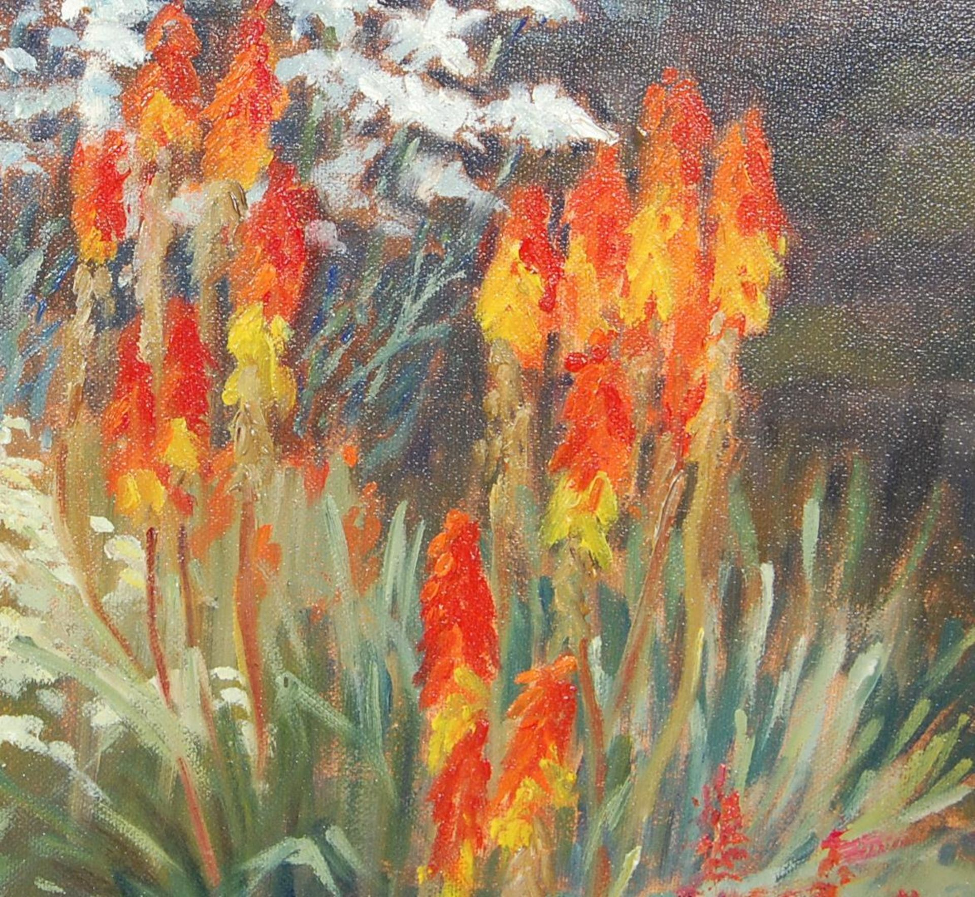 PAINTING BY LOCAL ARTIST - KEITH ELVIN - THE MIXED BORDER - Image 3 of 7