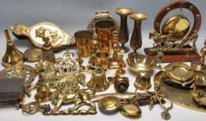 20TH CENTURY BRASS WARE AND ORNAMENTS