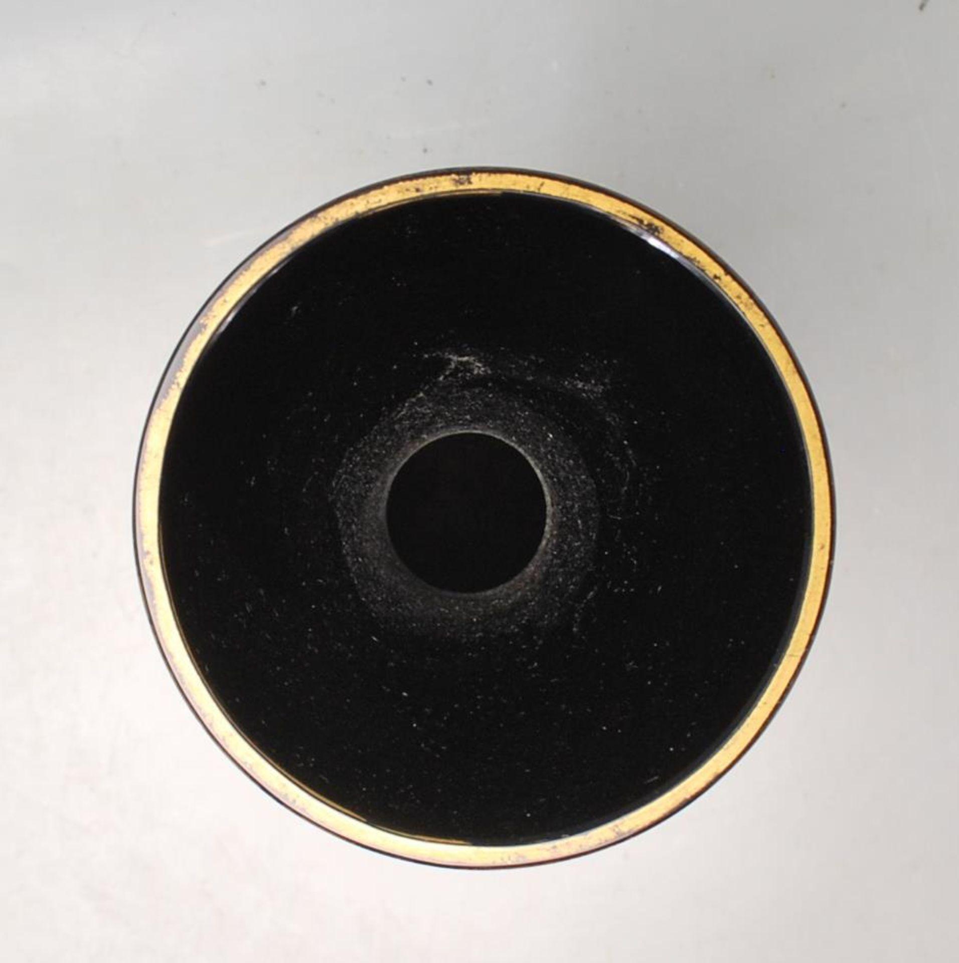 ANTIQUE BLACK AMETHYST BOHEMIAN GLASS VASE - Image 6 of 7