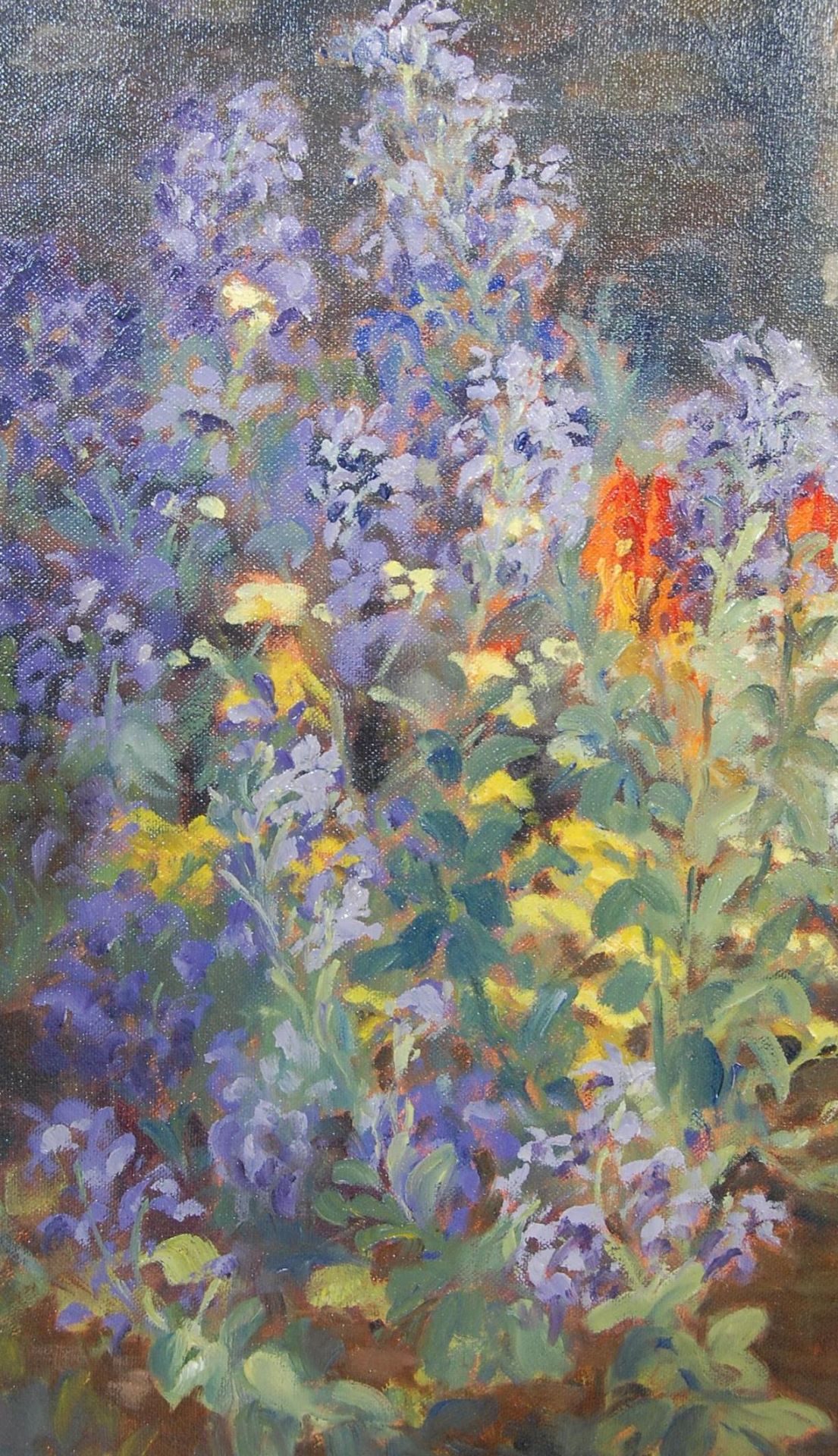 PAINTING BY LOCAL ARTIST - KEITH ELVIN - THE MIXED BORDER - Image 4 of 7